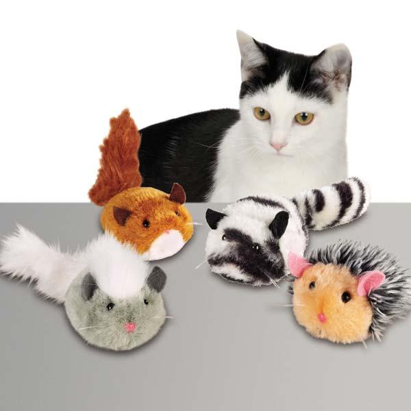 Zanies Plush Skedaddales Cat Toy