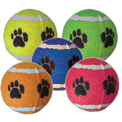 Paw Print Tennis Balls