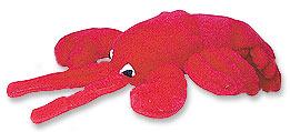 Multipet Look Whos Talking Lobster Plush Dog Toy