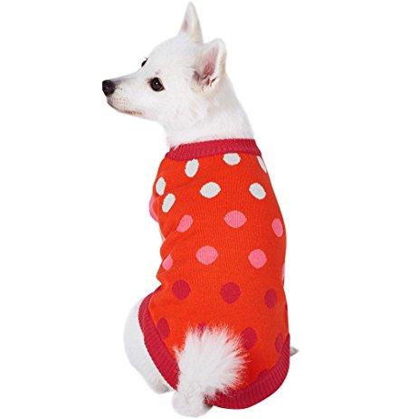 Blueberry Pet Red Polka Dot Dog Sweater