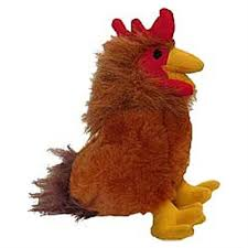 Multipet Look Whos Talking Dog Toy Rooster