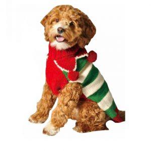 Chilly Dog Holiday Elf Dog Sweater