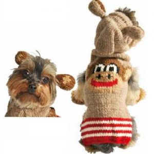Chilly Dog Monkey Hoodie Dog Sweater
