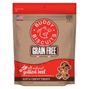Buddy Biscuits Grain Free Chewy Grilled Beef