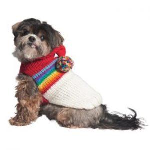 Chilly Dog Vintage Ski Hoodie Dog Sweater