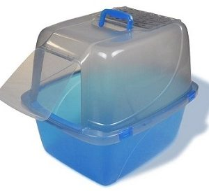 Van Ness Enclosed Translucent Cat Litter Pan