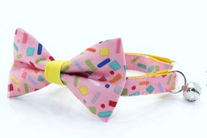 Made by Cleo Confetti SprinklesBow Tie Cat Collar
