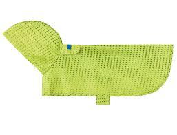 RC Pet Packable Lime Halftone Dog Rain Poncho