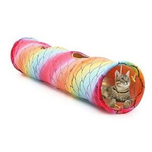 Luckitty Collapsible Rainbow Pet Tunnel
