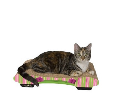 Imperial Cat Bella Sofa Pink and Green Stripes